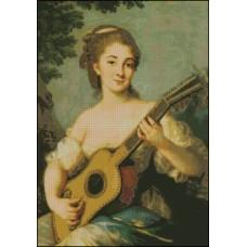 NG027 Devojka sa gitarom 1:1 (28x40cm)
