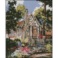 NG049 Kućica u cveću 1:1 (23x28,5cm)