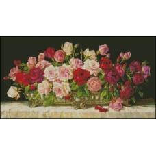 NG054 Ruže na stolu 1:1 (41x22cm)