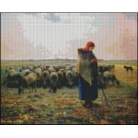 NG272 Pastirica (slikar Millet) 1:1 (35x29cm)
