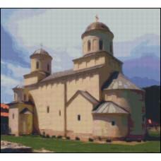 NG285 Manastir Mileševa 1:1 (30x27cm)