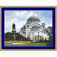 NG439 Hram Svetog Save 1:1 (40x30cm)