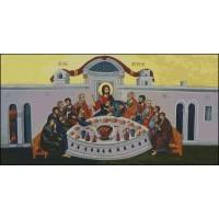 NG446 Tajna večera (pravoslavna) 1:1 (46x24cm)